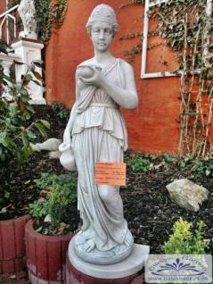 BD-0112 Gartenfigur Willkommenstrunk Frau mit Wasserkrug 139cm 135kg