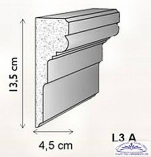 Fassadenstuck Leiste Baudekor L3A Styroporstuck Profile 135x45mm Styropor Stuckprofil Fassadenleiste Fassadenprofil