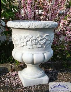 SRS104015 Blumenkübel Pflanzkübel mit dekorativen Blumenornament 61cm 62kg