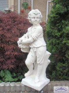 KP-0201 Gartenfigur Gärtner mit Weinkorb als Garten Dekofigur 75cm 40kg - Vorschau 4