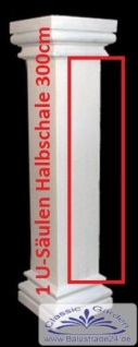 Styropor Säule 3Meter ESA G 60cm eckige glatte Halbschalen Leichtbausäulen Säulen und Wandverkleidung
