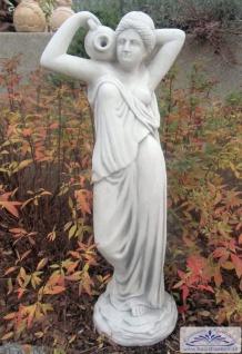 SRS101054 Gartenfigur Frau mit Wasserkrug als Wasserträgerin Brunnenfigur 76cm 29kg