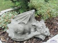 CG-427 großer liegende Drachen Fantasie Figur Steinfigur 45cm 17kg