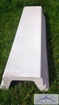 BD-004 Balustradenteil Balustraden Handlauf und Fusslauf Weissbeton