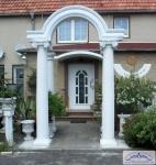Säulenportal mit Bogen Säulen kanneliert 30cm Gesamthöhe Bogenportal aus Styropor 335cm