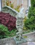 CG-615 Gartenfigur Siegesgöttin Nike von Samothrake oldgreen 100cm 75kg Skulptur Steinfigur
