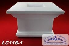 LC116-1 Säulenkapitell Kapitell für eckige Säule mit 255mm Durchmesser