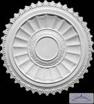 R-0 markante Gipsstuck Deckenrosette als Zierlement aus Gips 70cm