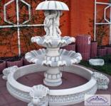 SA-N9 Gartenbrunnen Schirmbrunnen mit 2 Brunnenschalen und grossem Becken