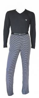 Emporio Armani Herren Loungewear / Schlafanzug lang, gestreift