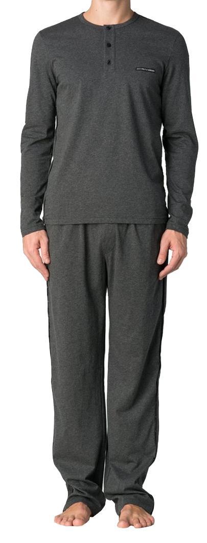 Emporio Armani Herren Loungewear / Schlafanzug lang, dark grey, Gr. M