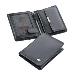 Braun Büffel Geldbörse Golf Hochformat, schwarz