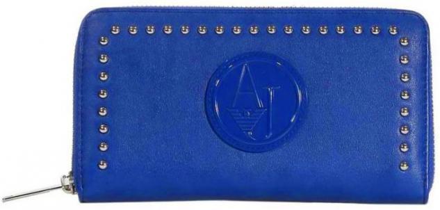Armani Jeans Portemonnaie groß mit Zip, 05V32 80 royalblau