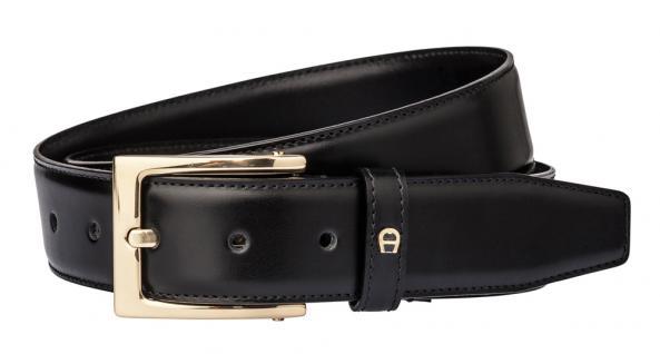 Aigner Gürtel Basic mit S-Schließe gold 126 445, schwarz