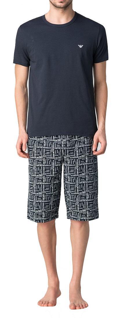Emporio Armani Herren Loungewear / Schlafanzug kurz, Marine Gr. M