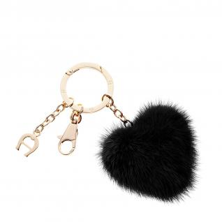Aigner Taschenanhänger / Schlüsselanhänger Herz, schwarz