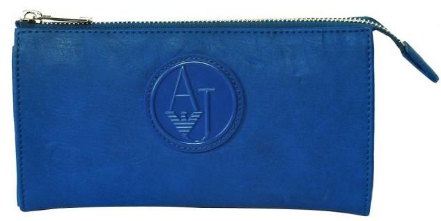 Armani Jeans Portemonnaie groß mit Zip, 05V57 80 royalblau