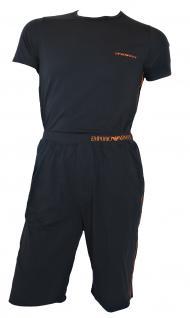 Emporio Armani Herren Loungewear / Schlafanzug kurz, carbon, Gr. M