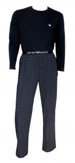 Emporio Armani Herren Loungewear / Schlafanzug lang, Marine