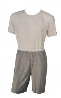 Emporio Armani Herren Loungewear / Schlafanzug kurz, grau / gestreift Gr. M