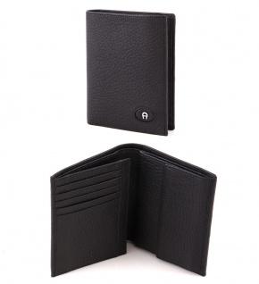 Aigner Portemonnaie 151010, Hochformat schwarz