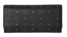 MCM Color Visetos 3 Fold large Wallet schwarz-silber