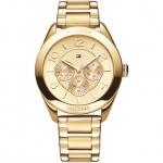 Tommy Hilfiger Damen Uhr Edelstahl gold, 1781214