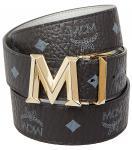 MCM Wendegürtel, Color Visetos New Buckle black/silver