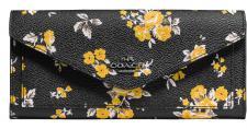 Coach Portemonnaie groß, mit Flowerprint, schwarz, 59512