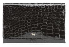 Braun Büffel XXL Bügelbörse Glanzkroko schwarz, 40433