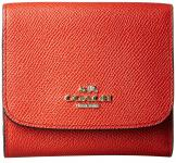 Coach Portemonnaie klein, Crossgrain Leather carmine