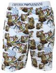 Emporio Armani Herren Bermuda Shorts, bianco stampato 111004 6P502