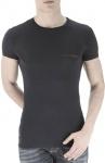 Emporio Armani, Basic Stretch T-Shirt schwarz 6A511