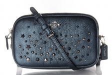 Coach XBody Clutch/ Crossbody Bag, Metallic Blue, 59452