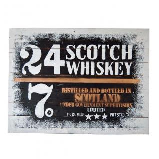 Wandbild Painting on Wood 80x60 cm Scotch Whiskey