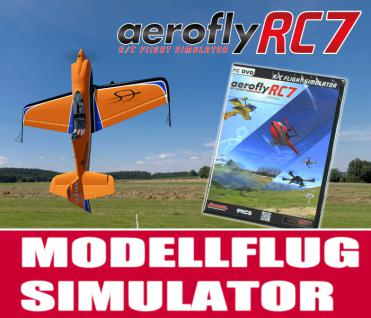 Modellflugsimulator aeroflyRC7 ULTIMATE im Set mit USB-Commander 1