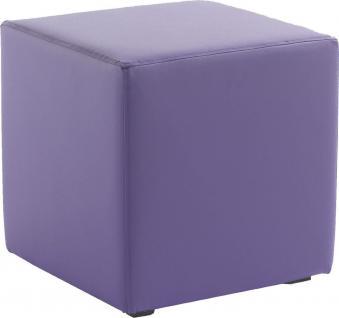 Sitzwürfel Sitzhocker Schminkhocker Hocker Kunstleder Violet 45x42x42cm