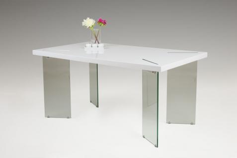 Esstisch Tisch - Finch - Vierfußtisch 160 x 90 cm Hochglanz Weiss