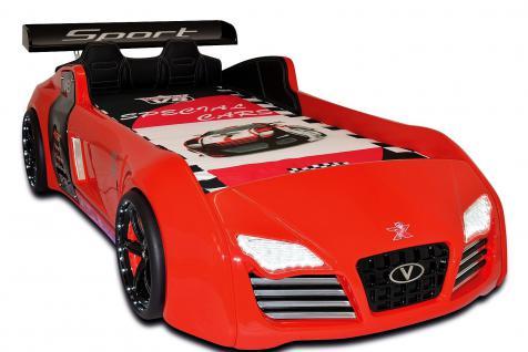 Autobett Kinderbett Bett - Turbo - Rot inkl. Beleuchtung