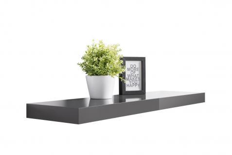 Wandboard Wandregal - Finn-Lack 1 - 2er Set x 90 cm Lang - Dunkelgrau