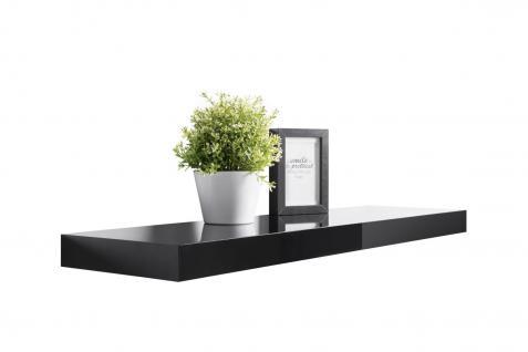 Wandboard Wandregal - Finn-Lack 1 - 2er Set x 90 cm Lang - Schwarz