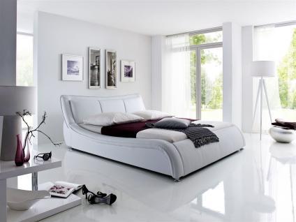 Polsterbett Bett Doppelbett Tagesbett - TOKIO - 180x200 cm Weiss