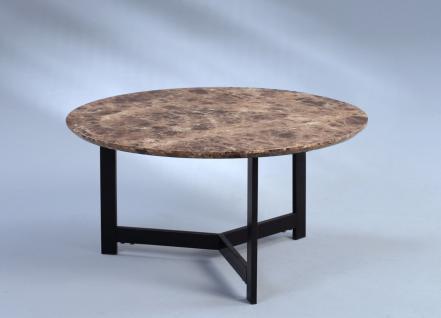 Couchtisch Beistelltisch - Vito 1 - 70x70 cm Marmordekor dunkel