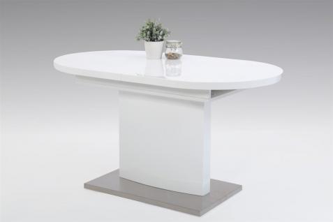 Weiss hochglanz oval tisch online kaufen bei yatego for Esstisch oval weiss hochglanz