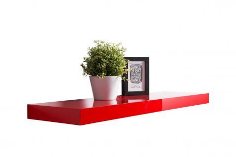 Wandboard Wandregal - Finn-Lack 1 - 2er Set x 90 cm Lang - Rot