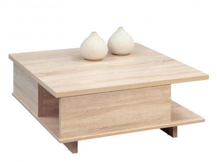 Couchtisch Tisch Höhenverstellbar - Claus 1 - 80x80 cm Sonoma Eiche