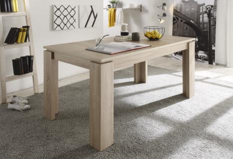Esstisch Tisch Auszugstisch -DAV - 160-200 x 90 cm Eiche sägerau Hell