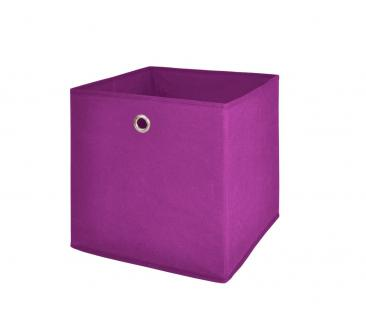 Faltbox Box Stoffbox- Delta - Größe: 24 x 24 cm / 3er Set - Brombeer