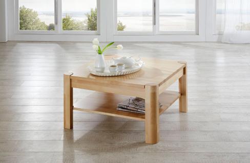 Couchtisch Tisch THILO Buche vollmassiv / Echtholz 80 x 80 cm