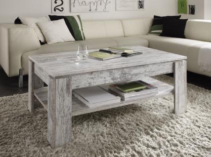 Couchtisch Wohnzimmertisch - DAV - 110 x 65 cm Pine Weiss